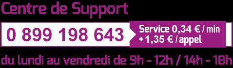 N° Centre de Support